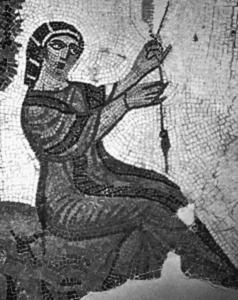 Fileuse - Mosaïque romaine de Tabarka (Le Bardo, Tunis)