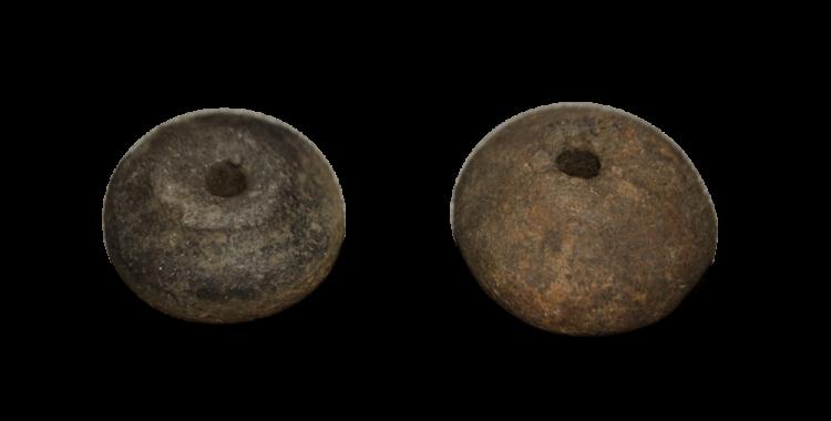 Fusaïoles en terre cuite, protohistoriques, musée de Béruges