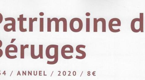 Parution : Bulletin n°34 des Amis du Patrimoine de Béruges